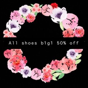 ALL SHOES BUY ONE GET ONE HALF OFF!!